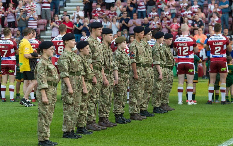 Armed forces day 2018 vs Leeds Rhinos.