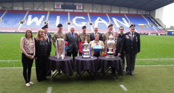 Warriors and Latics Support 2013 Poppy Appeal