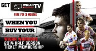 Get Wigan TV Free with Your Half Season Ticket