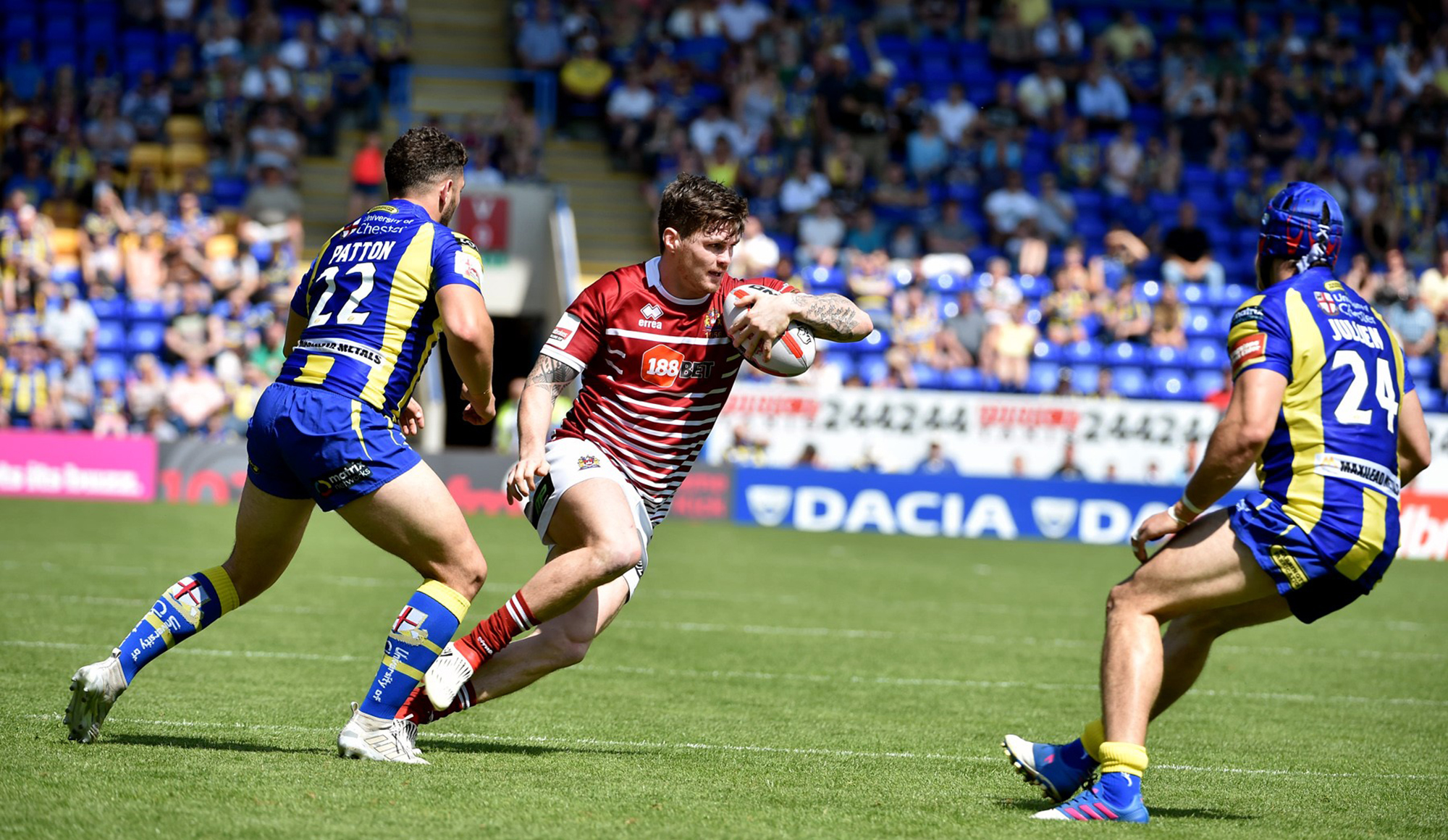 Warrington 26 Wigan 27