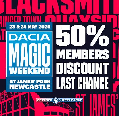 Magic Weekend 50% off