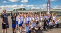 Warriors deliver PE kits to local schools