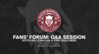 Fans' Forum: Q&A session